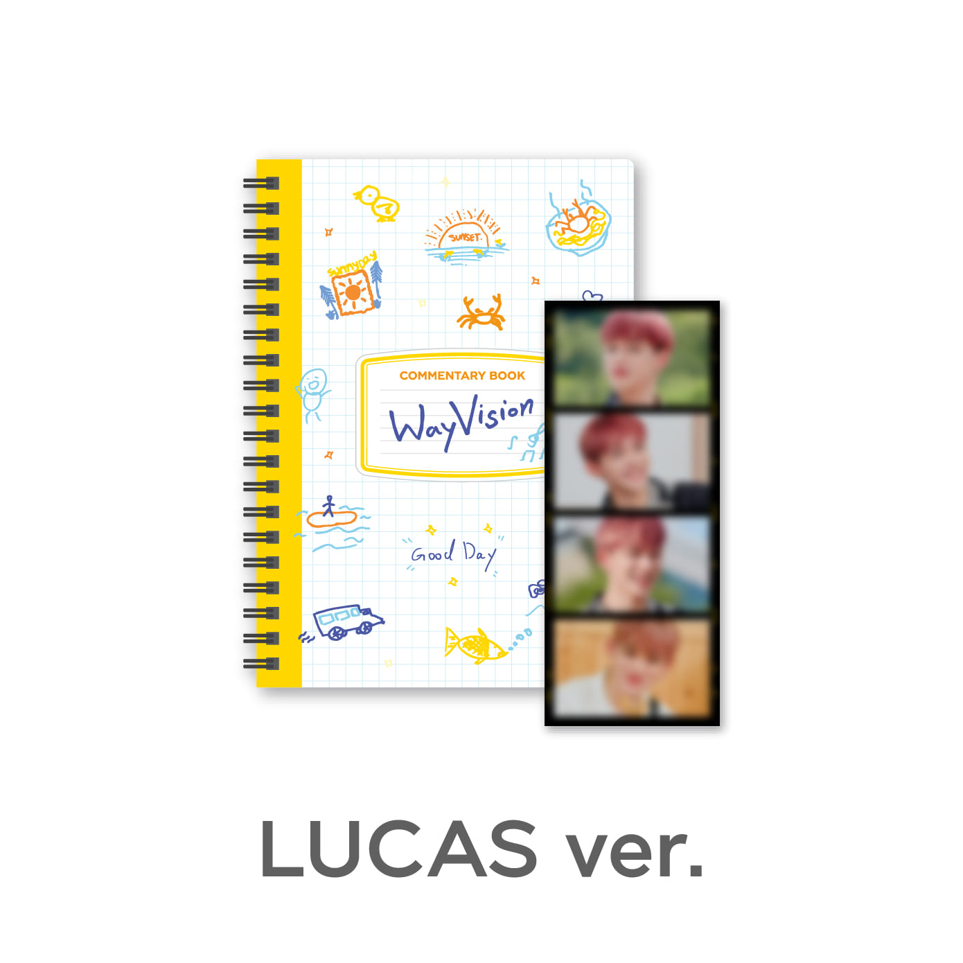 [PRE-ORDER] [WayVision] WayV_LUCAS_Commentary book+film SET케이팝스토어(kpop store)