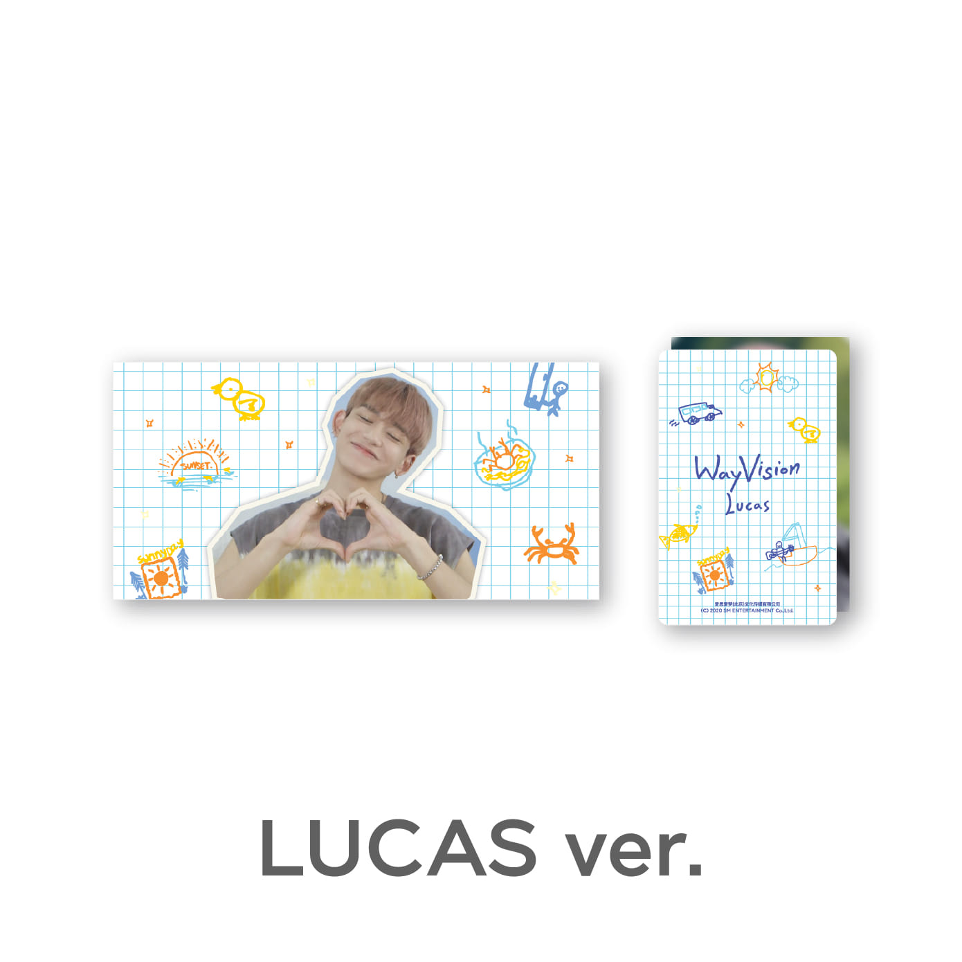 [PRE-ORDER] [WayVision] WayV_LUCAS_Flipbook + Photo card SET케이팝스토어(kpop store)