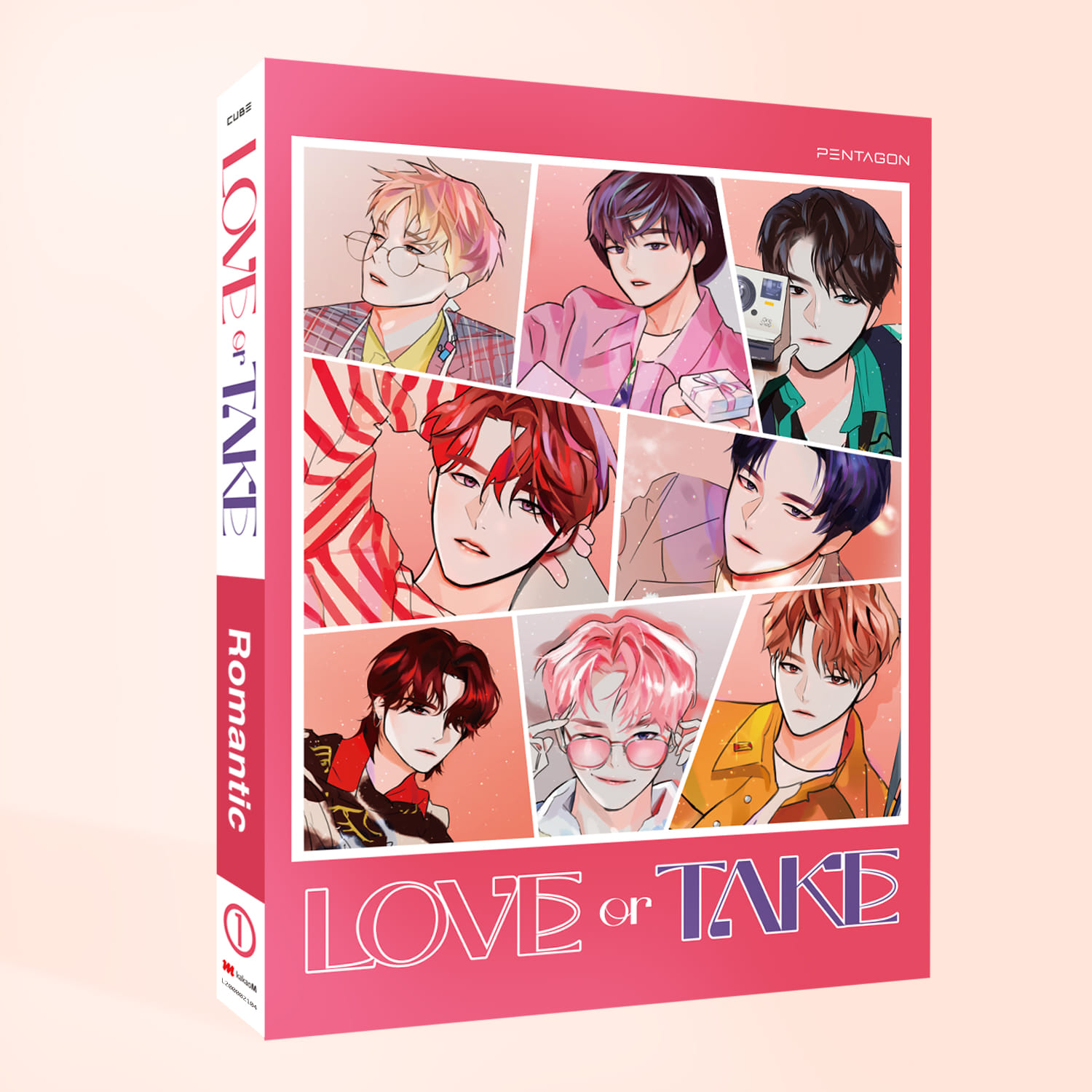 [PRE-ORDER] 펜타곤(PENTAGON) - 11th MINI ALBUM [LOVE or TAKE] (Romantic Ver.)케이팝스토어(kpop store)